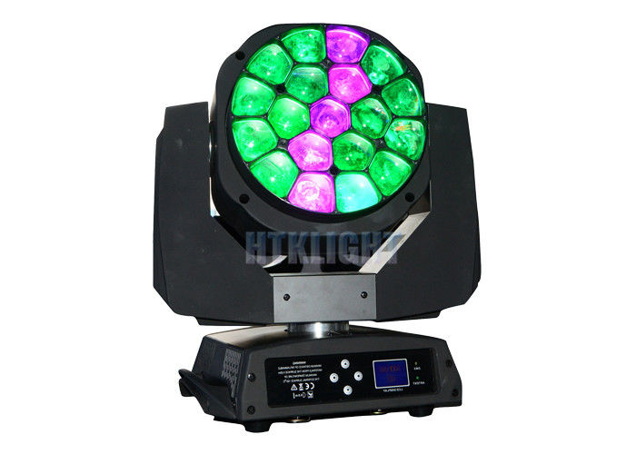 AC110 - 240V 19 x 15watt 4 In1 Bee Eye Beam Moving Head For Stage , Events